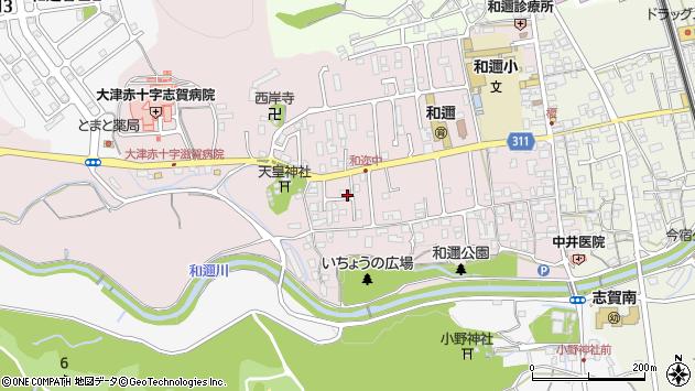 滋賀県大津市和邇中周辺の地図