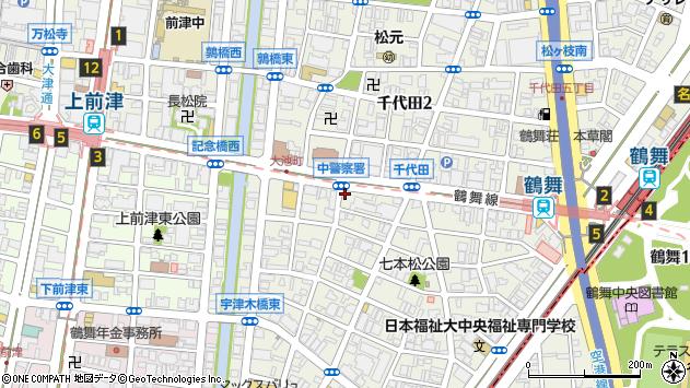 愛知県名古屋市中区千代田3丁目4-1周辺の地図