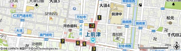 愛知県名古屋市中区大須4丁目11-14周辺の地図