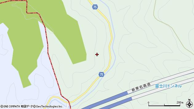 静岡県富士宮市内房里沢周辺の地図