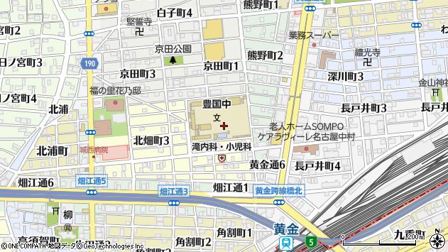愛知県名古屋市中村区北畑町1丁目周辺の地図