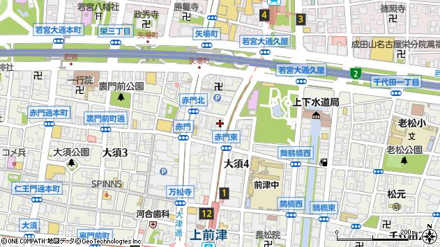 愛知県名古屋市中区大須4丁目周辺の地図