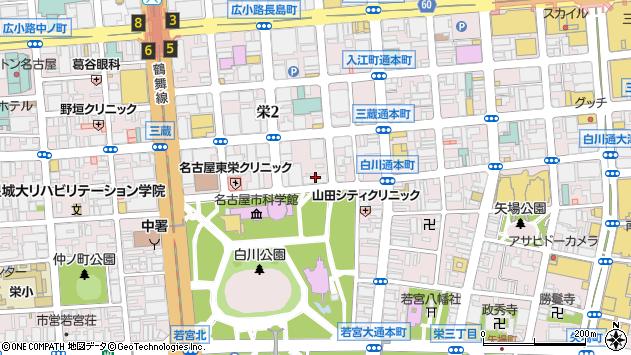 愛知県名古屋市中区栄2丁目12-22周辺の地図
