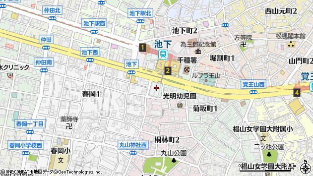 愛知県名古屋市千種区周辺の地図