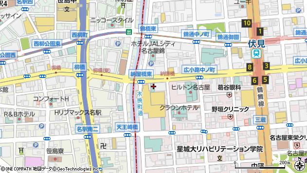 愛知県名古屋市中区栄1丁目2-7周辺の地図