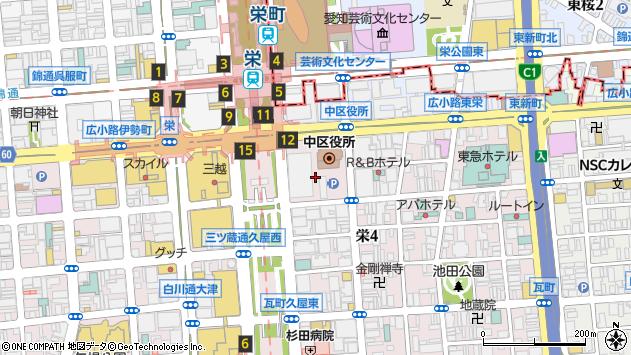 愛知県名古屋市中区栄4丁目1周辺の地図
