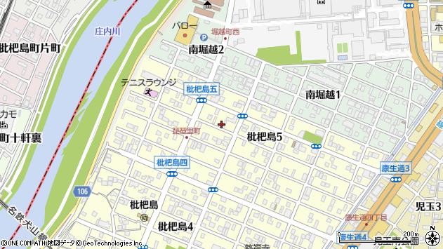 愛知県名古屋市西区枇杷島5丁目周辺の地図