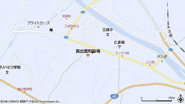 島根県仁多郡奥出雲町周辺の地図