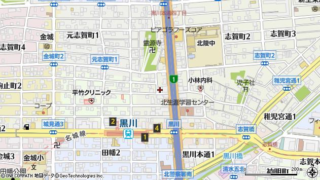 愛知県名古屋市北区黒川本通周辺の地図