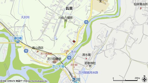 静岡県富士宮市長貫周辺の地図