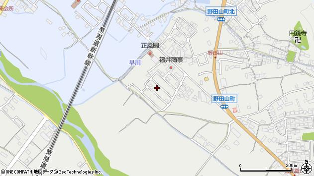 滋賀県彦根市野田山町周辺の地図