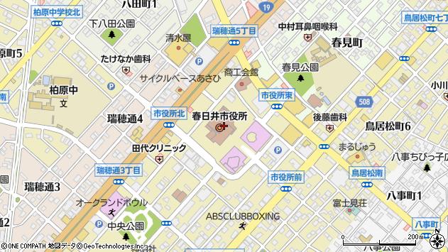 愛知県春日井市周辺の地図