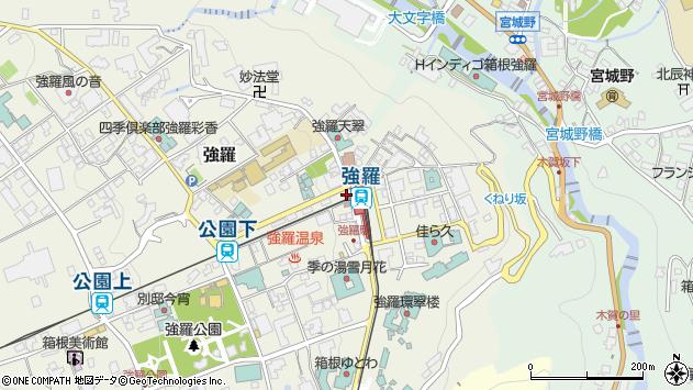 神奈川県足柄下郡箱根町強羅周辺の地図