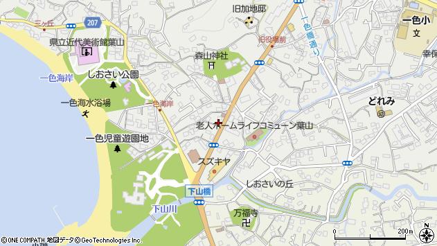 神奈川県三浦郡葉山町一色周辺の地図