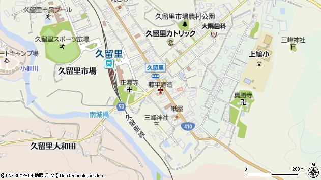 千葉県君津市久留里市場143 住所一覧から地図を検索