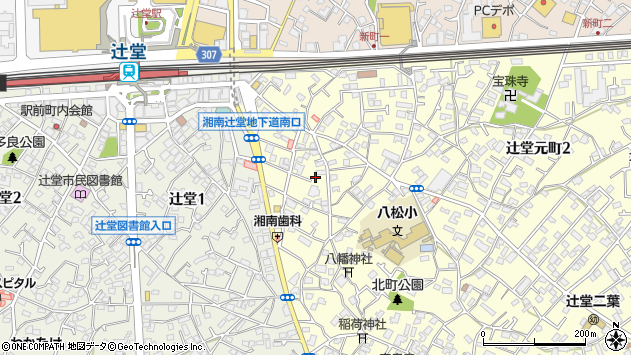 神奈川県藤沢市辻堂元町周辺の地図