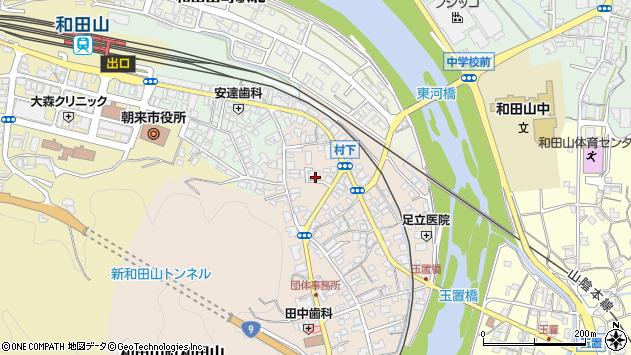 兵庫県朝来市和田山町和田山周辺の地図