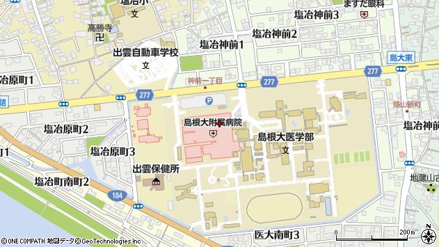 島根県出雲市塩冶町89-1周辺の地図