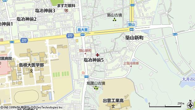 島根県出雲市塩冶町15-3周辺の地図