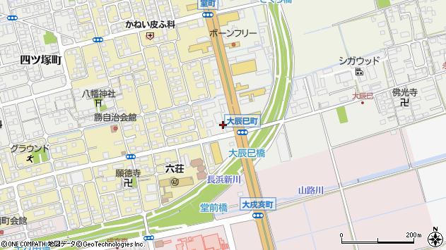 滋賀県長浜市大辰巳町周辺の地図