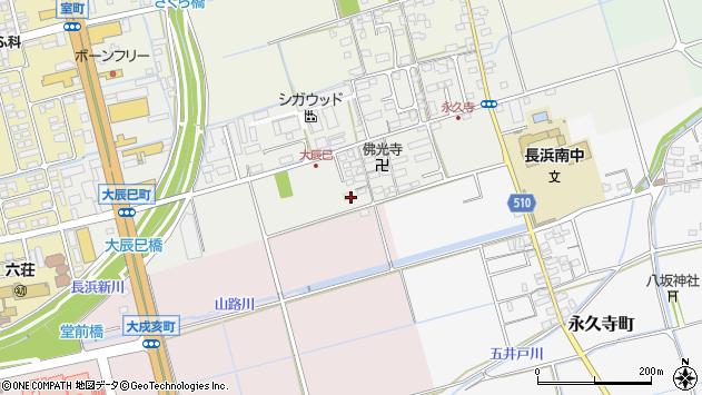 滋賀県長浜市大辰巳町133周辺の地図