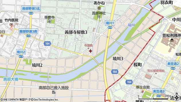 岐阜県岐阜市境川1丁目周辺の地図