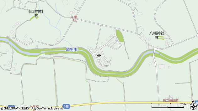 千葉県長生郡長南町豊原周辺の地図