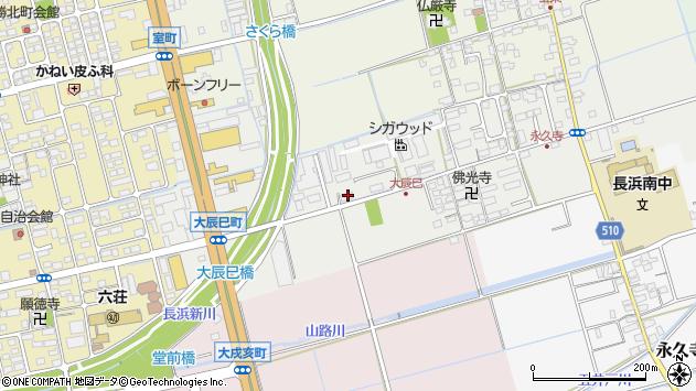 滋賀県長浜市大辰巳町113周辺の地図