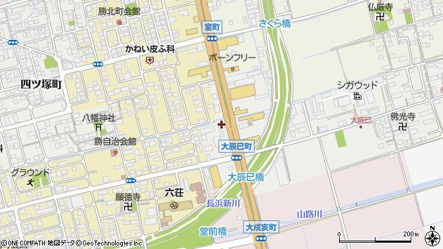 滋賀県長浜市大辰巳町28周辺の地図