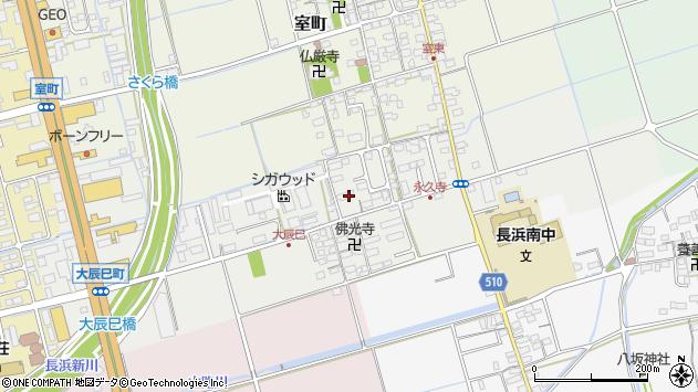 滋賀県長浜市大辰巳町179周辺の地図
