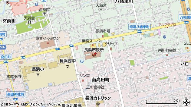 滋賀県長浜市周辺の地図