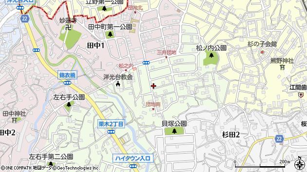神奈川県横浜市磯子区栗木周辺の地図