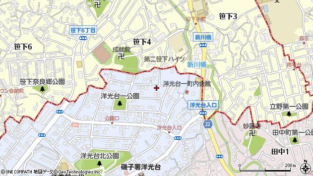 神奈川県横浜市磯子区洋光台1丁目周辺の地図