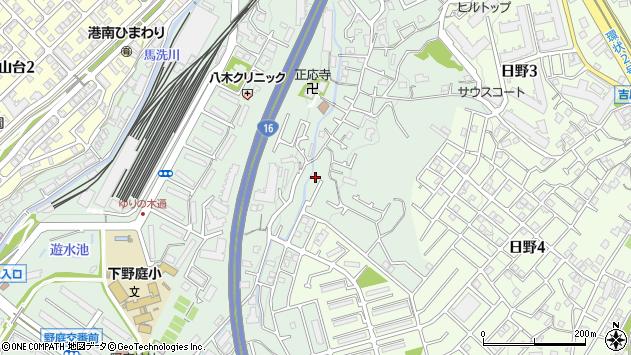 神奈川県横浜市港南区野庭町周辺の地図