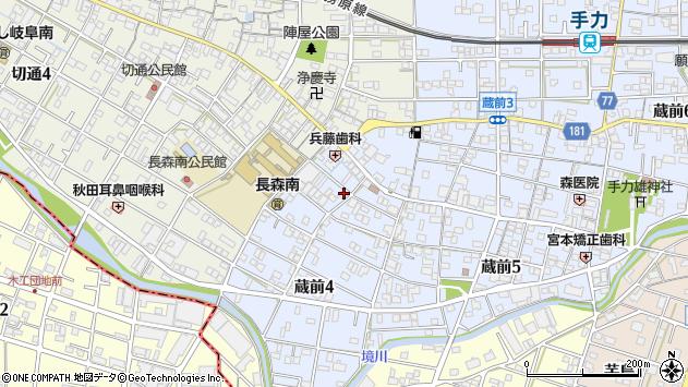 岐阜県岐阜市蔵前周辺の地図