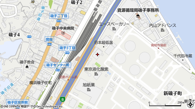 神奈川県横浜市磯子区新磯子町30周辺の地図