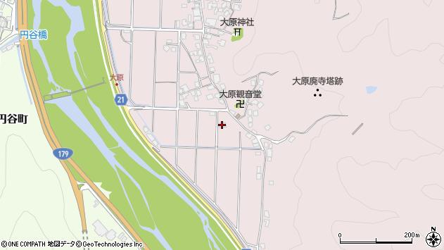 鳥取県倉吉市大原222周辺の地図