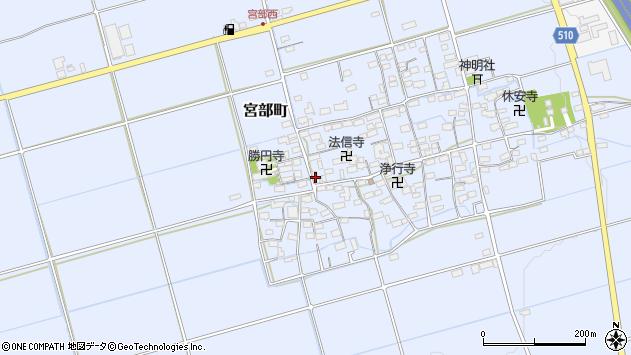 滋賀県長浜市宮部町周辺の地図