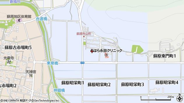 岐阜県各務原市蘇原外山町周辺の地図
