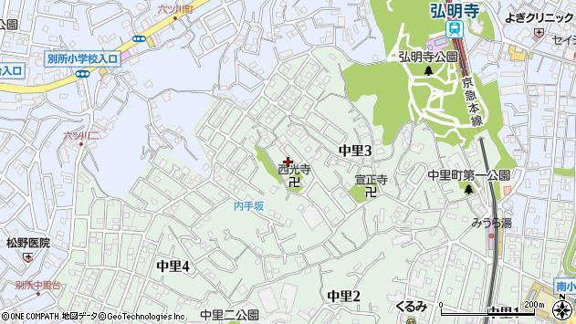 神奈川県横浜市南区中里3丁目周辺の地図