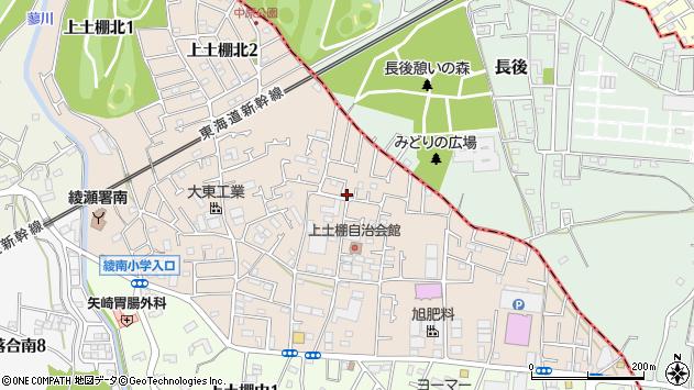 神奈川県綾瀬市上土棚北4丁目3-37周辺の地図