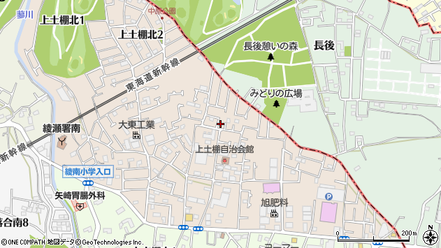 神奈川県綾瀬市上土棚北4丁目3-38周辺の地図
