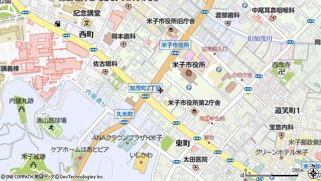 鳥取県米子市加茂町2丁目104 住所一覧から地図を検索