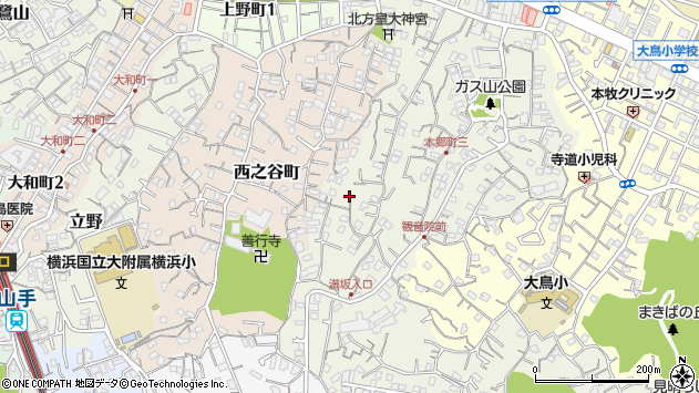 神奈川県横浜市中区本郷町3丁目113周辺の地図