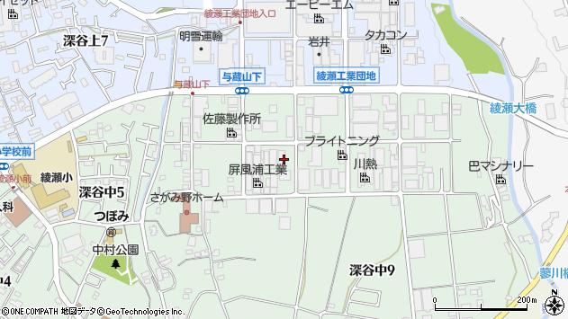 神奈川県綾瀬市深谷中8丁目周辺の地図