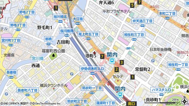 神奈川県横浜市中区尾上町5丁目76周辺の地図