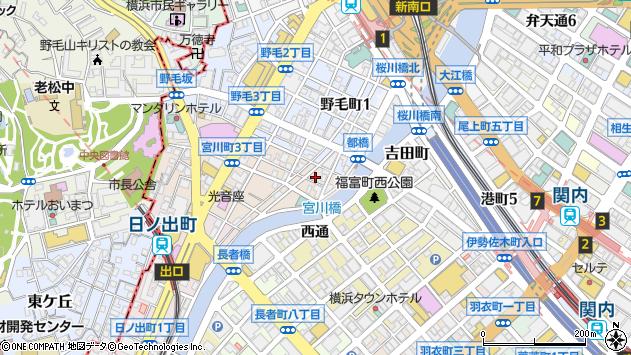 神奈川県横浜市中区宮川町1丁目4周辺の地図