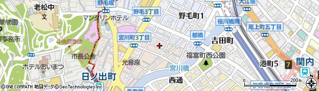 神奈川県横浜市中区宮川町2丁目23周辺の地図