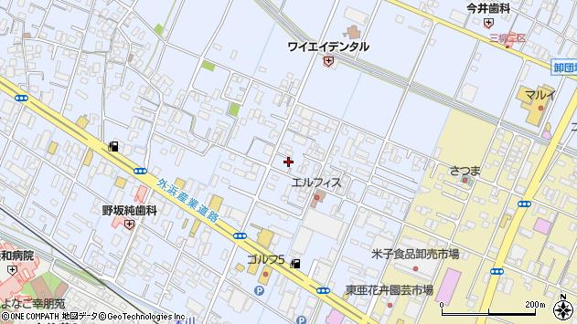 鳥取県米子市両三柳周辺の地図