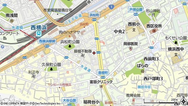 神奈川県横浜市西区浜松町2-26周辺の地図